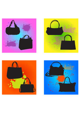 silhouette of the bag Vector