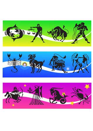 horoscopes silhouettes Illustration