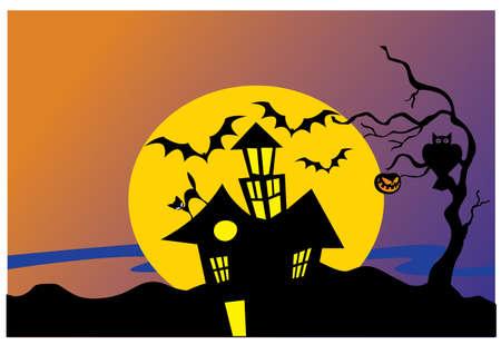 silhouette scream house Stock Vector - 23257456