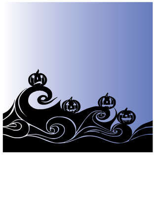 ghost in the sea silhouette Illustration