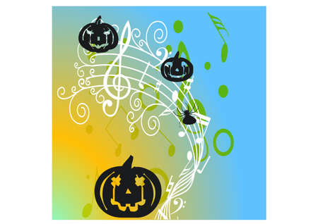 happy scary silhouette Illustration