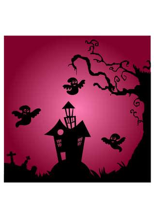 gansta: scream home silhouette Illustration