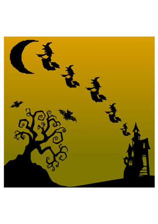 much witch silhouette