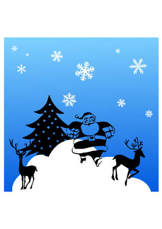 christmas silhouette Stock Vector - 23332241