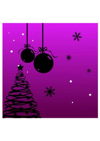 silhouette christmas ornament Stock Vector - 23332248