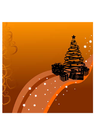 christmas tree silhouette Stock Vector - 23332271