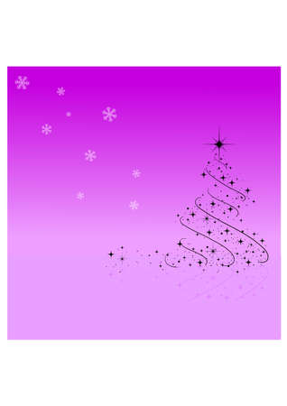 christmas tree two silhouette Vector