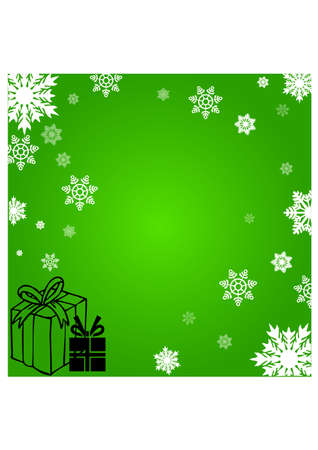 christmas gifts silhouette Vector