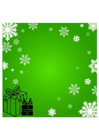 gansta: christmas gifts silhouette Illustration
