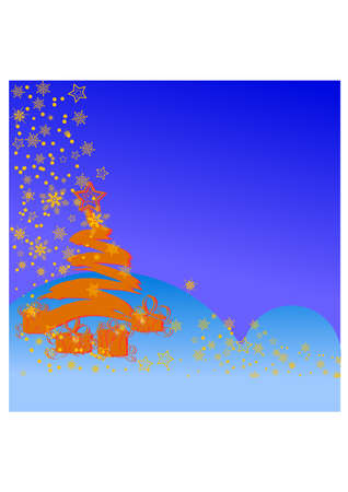 christmas tree silhouette Stock Vector - 23364061