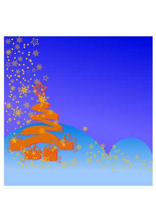 gansta: christmas tree silhouette Illustration