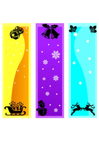 ornament funny christmas silhouette Vector