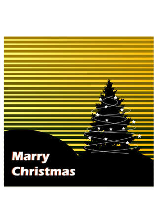 silhouette of christmas tree Stock Vector - 23460163