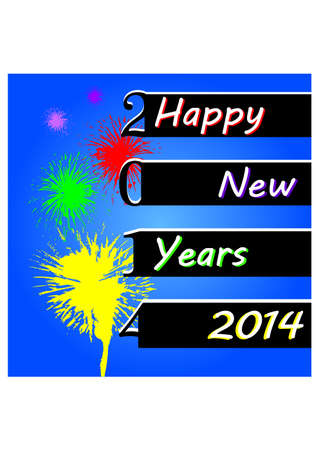 silhouette of firework and happy new years Vector