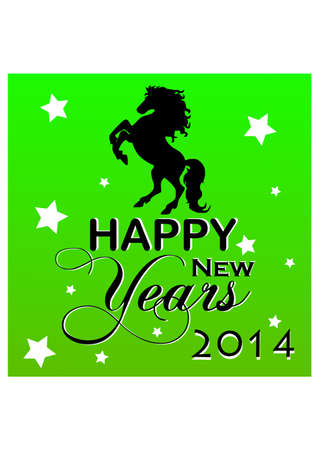 silhouette of the new year horse Vector