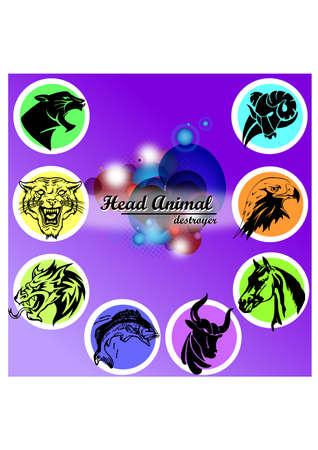 destroyer: silhouette animal destroyer logo Illustration