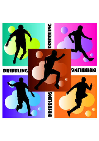 dribbling: great football dribbling silhouette