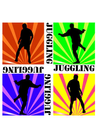 silhouette football juggling Vector