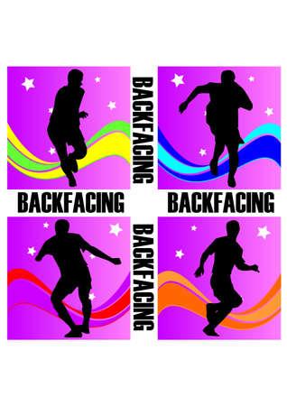 silhouette backfacing football fantastic Stock Vector - 24107770