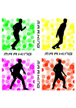 the body of marking football silhouette Vector