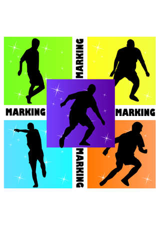 silhouette of hold marking football Vector