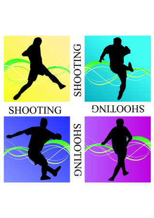 silhouette scratched shooting of football Vector