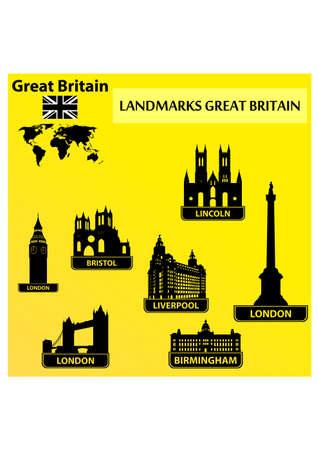 Historic Landmarks silhouette Vector