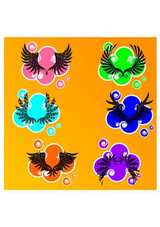 gansta: silhouette bird wings