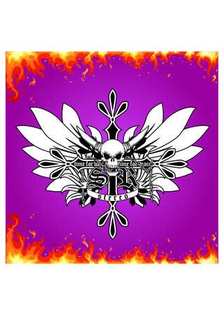 smolder: smolder skull ornament silhouette Illustration