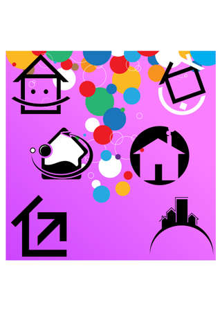 logo casa: silhouette logo home semplice Vettoriali