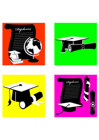 siloette: silhouette graduation Illustration