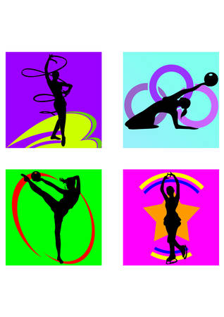 siloette: gymnastics sport silhouette
