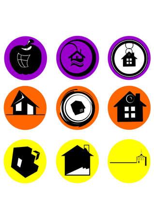 logo casa: semplice logo home silhouette