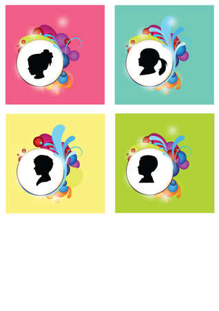 silhouette of child Stock Vector - 24384139