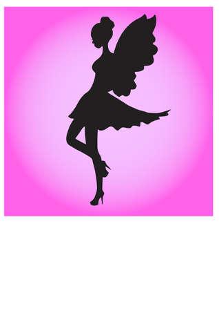 silhouette fairy love