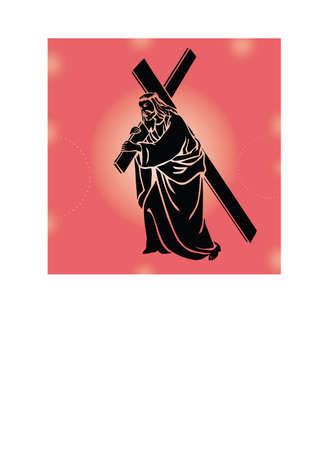 siloette: silhouette jesus love