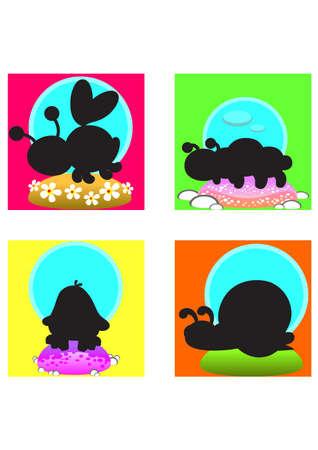silhouette cartoon animal Stock Vector - 24552333