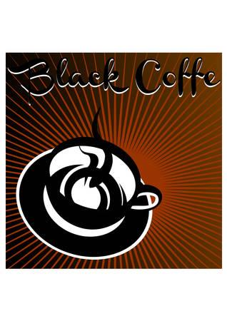 black coffe silhouette