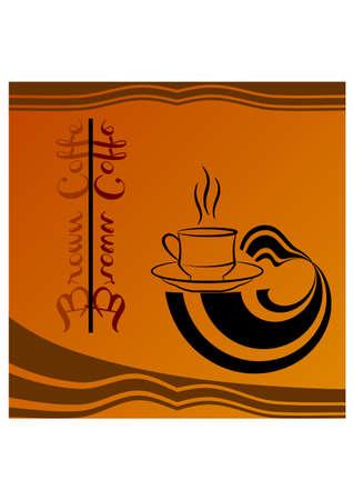 brown coffe silhouette Illustration