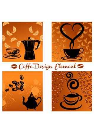element coffe silhouette