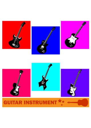 silhouette guitar instrument Illustration