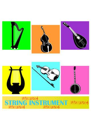 string instrument silhouette