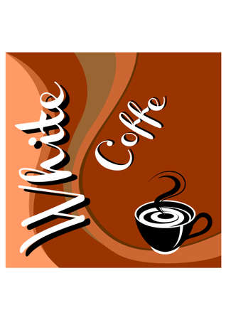 silhouette white coffe Vector