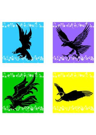 interesting music: silhouette eagle bird Illustration