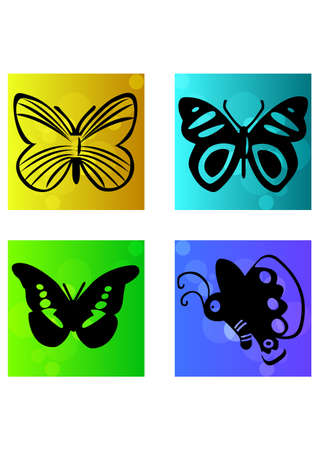 beautiful of butterfly silhouette