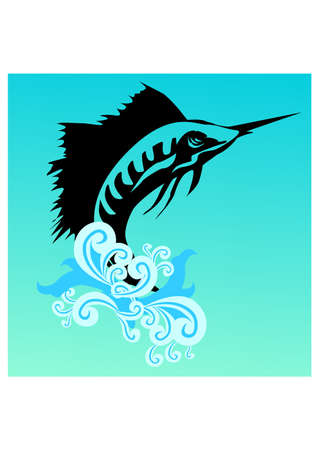 fish saws silhouette Vector