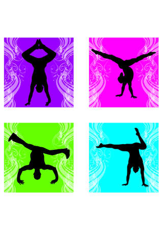 silhouette of flare breakdance Vector
