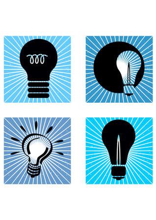 silhouette of light bulb