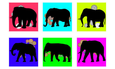 step of elephant walk silhouette