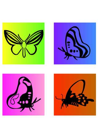 silhouette of sweet butterfly